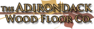 The Adirondack Wood Floor Co with Leaf background