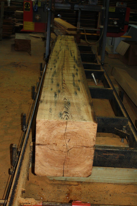 Heart Pine Beams Ready To Be Reclaimed Adirondack Wood