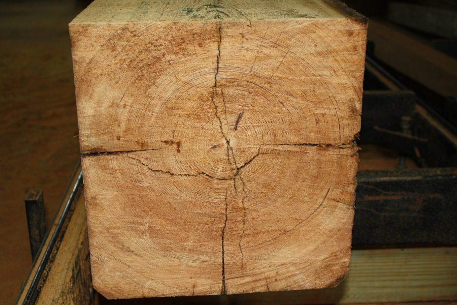 Heart Pine Beams Ready to be Reclaimed