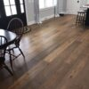 What is factory finished hardwood?